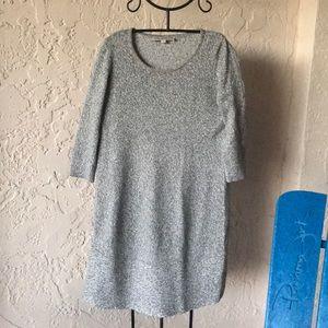 LOFT Sweater Dress Gray in Medium